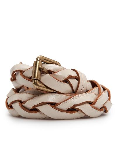 Braided leather belt $49.99