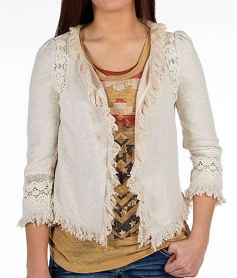 Gimmicks by BKE - French Terry Cardigan Price $62 - International Shipping