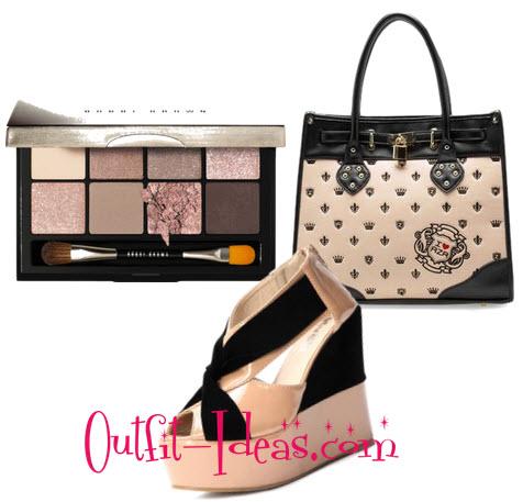 pink bag and shoe