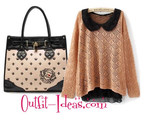 Really cute sweater although it looks more orange than pink