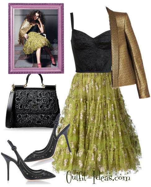 Evening Outfit with Lanvin and Dolce Gabbana