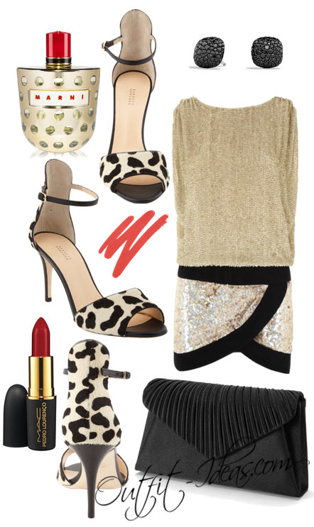 Barneys New York black and cream leopard print in Outfit