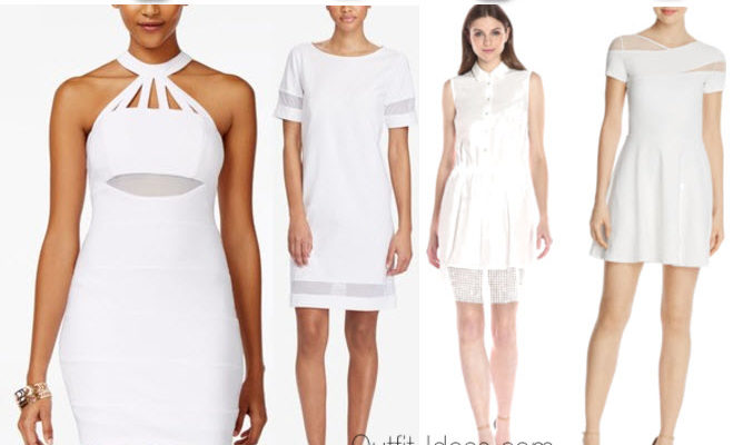 White dress with mesh inserts – models for sale