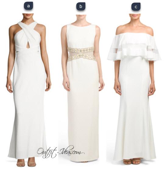 long white mesh dress